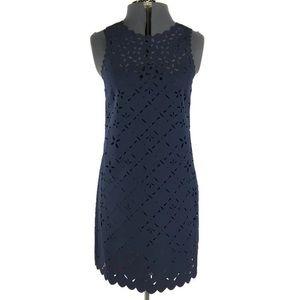J Crew Navy Blue Cut Out Sheath Dress